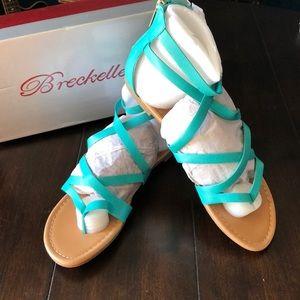 Breckelle's Sandals Aqua